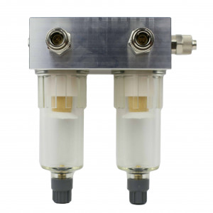 Filtration unit for detecting metal and other abrasive particles inside of the high pressure fuel pump being tested